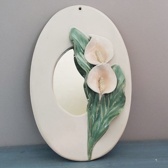 Other - Vintage Pottery Calla Lilly Mirror